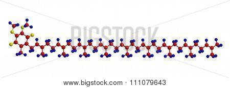 Coenzyme Q10 (ubiquinone) - Molecular Structure