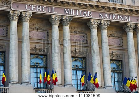 The National Military Circle (cercul Militar National) In Downtown Bucharest On Victory Avenue Was B