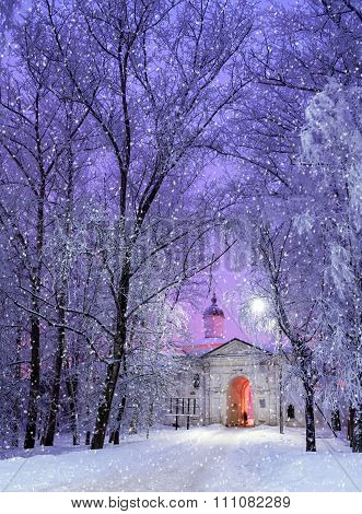 Church Of The Presentation In Veliky Novgorod, Russia - Winter Landscape