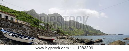 Boats On The Beach Of Fajan D'agua