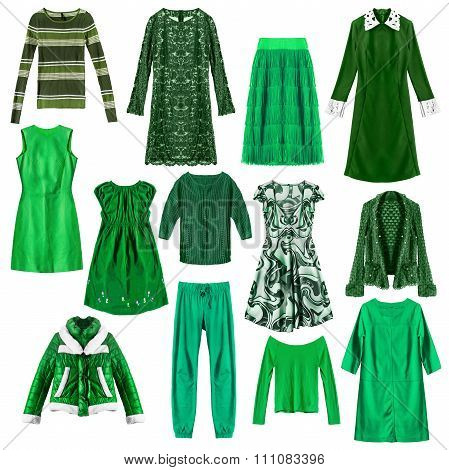 Green Clothes Isolated