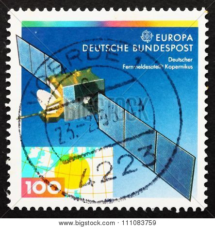 Postage Stamp Germany 1991 Copernicus Satellite