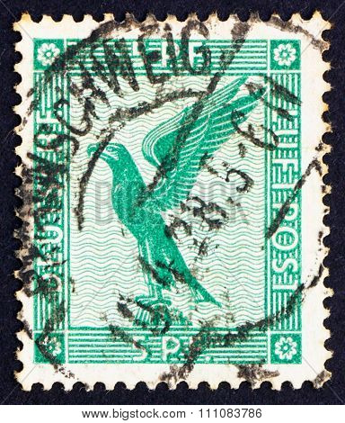 GERMANY - CIRCA 1924: a stamp printed in the Germany shows German Eagle circa 1924