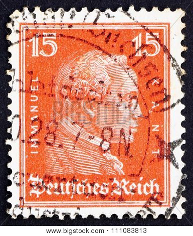 Postage Stamp Germany 1926 Immanuel Kant, Philosopher