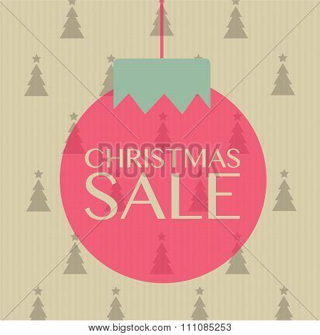 Christmas Sale Sign On The Ball Hanging