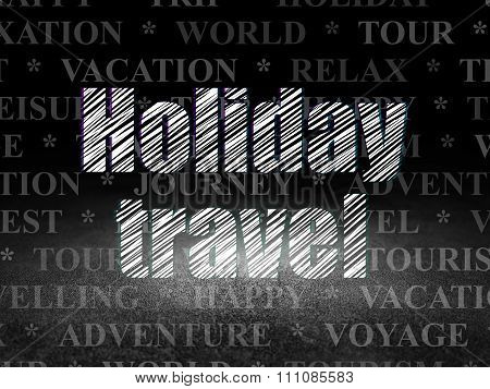 Tourism concept: Holiday Travel in grunge dark room