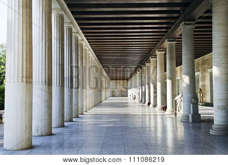 Stoa of Attalos in Athens Greece
