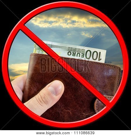 Sign Stop Corruption, Do Not Give Bribes Isolated