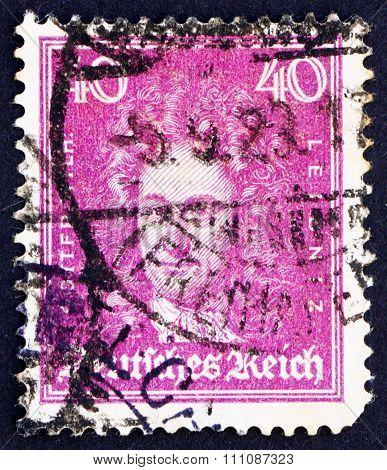 Postage Stamp Germany 1926 Gottfried Wilhelm Leibniz