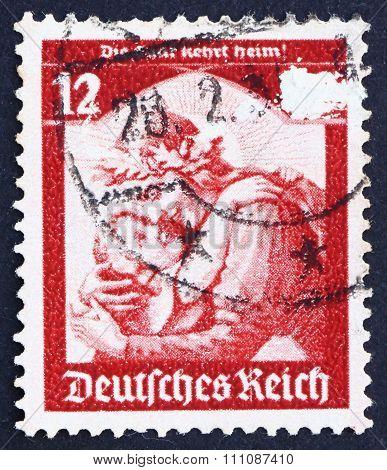 Postage Stamp Germany 1934 Germania Welcoming Home The Saar