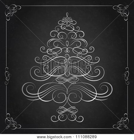 Calligraphy Christmas tree.