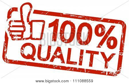 Red Stamp With Text 100% Quality