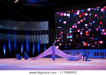 Minsk, Belarus December 05: Unidentified Gymnast From ' Dynamo' Participate With 'mirage