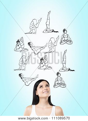 Woman Dreaming About Doing Exercises, Sport