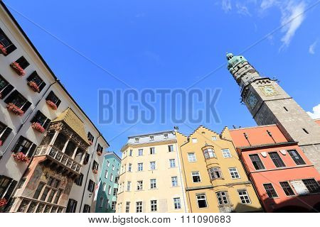 Innsbruck Old Town And Golden Roof