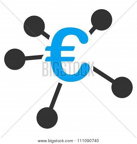 Euro Distribution Flat Icon