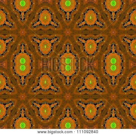 Seamless pattern brown orange green
