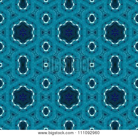 Seamless pattern turquoise green