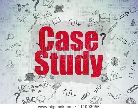 Learning concept: Case Study on Digital Paper background