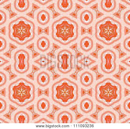 Seamless pattern orange white