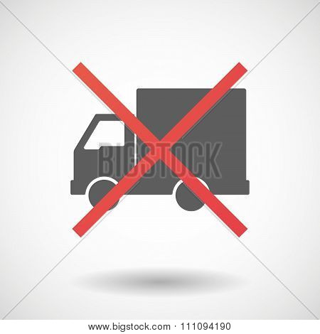 Not Allowed Icon With A  Delivery Truck