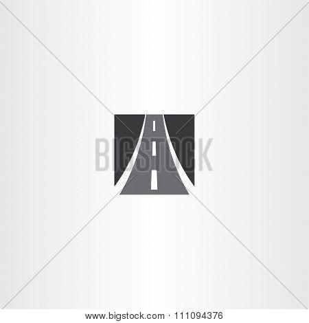 Black Square Highway Auto Road Icon
