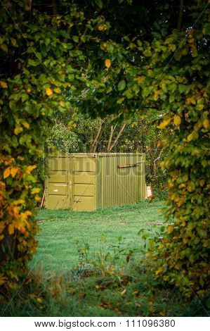Storage Container In The Nature