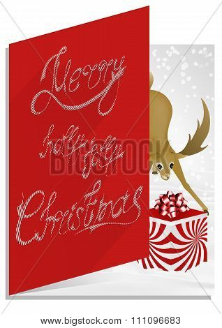 Christmascard typography, handwriting, colorful, enigmatic