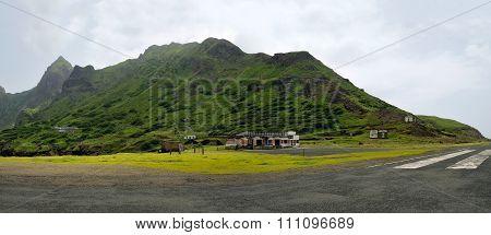 Airport In Brava, Cabo Verde