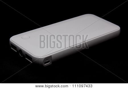 External battery pack isolated on black