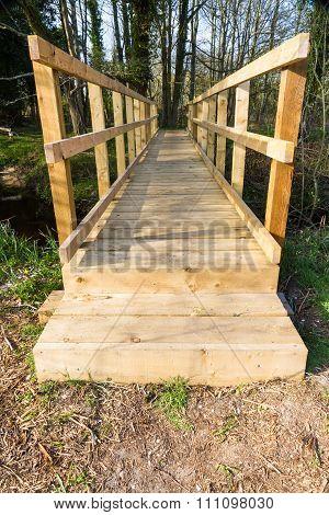 Modern Wooden Footbridge