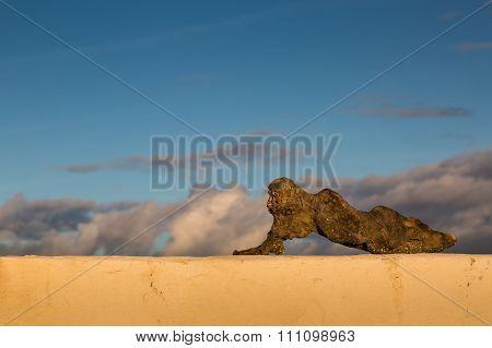 Sculpture By Atlantic Ocean