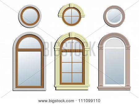 Three arched windows