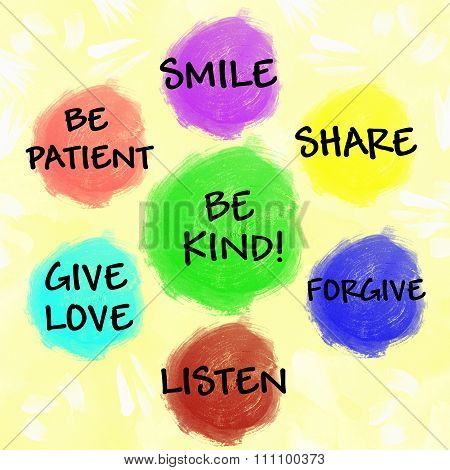 Be kind chart for children