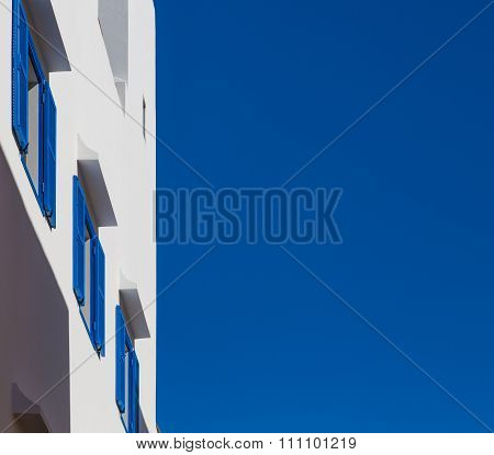 Blue Color By Morocco. View of the house in Essaouira.