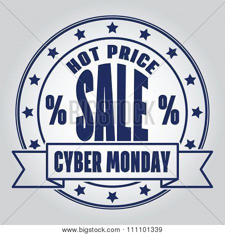 Insignias Logotypes Cyber Monday Design. Vector Illustration Eps10.