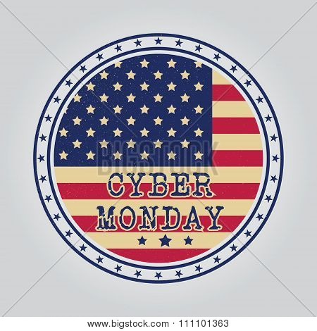Cyber Monday Design. Vector Illustration Eps10. Cyber Monday Graphic.