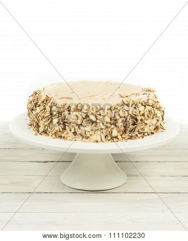 Cake With Almonds And Nougat Creme