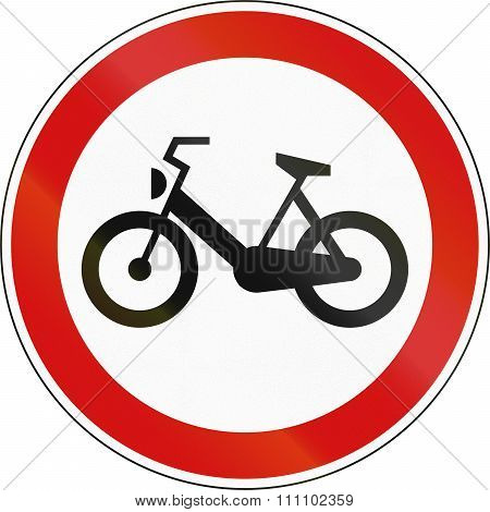 A Slovenian Prohibition Sign - Mopeds