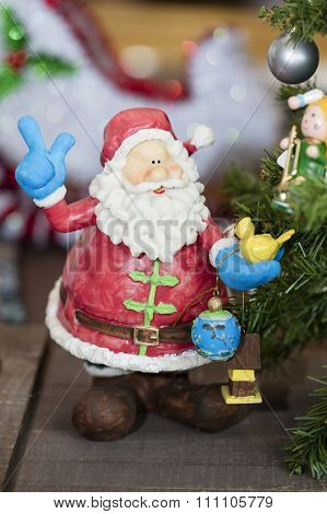 Santa Claus Ornament For The Holiday Festivities