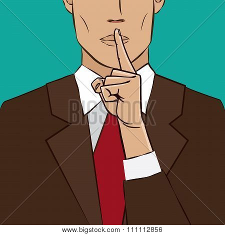 Hand Sign Silence