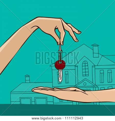 Hand Holding House Key