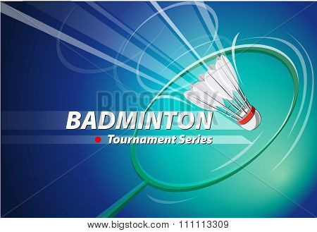 Badminton Tournament series logo event