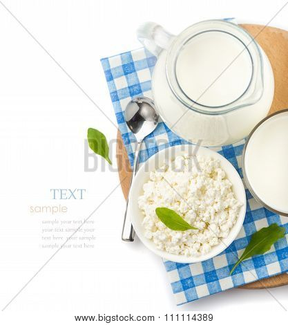 Airy Products On A White Background,
