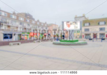 Defocused Background Of Central Dover, Uk