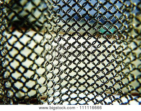 mesh chainmail background see through blur metal