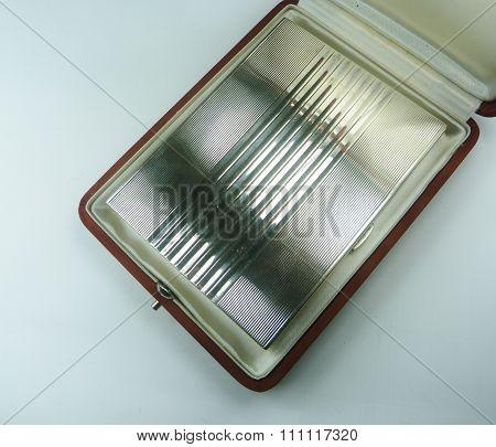 sterling silver cigarette case in presentation case vintage
