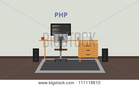 php programmer developer workspace