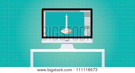 designer 3d developer workspace pc computer