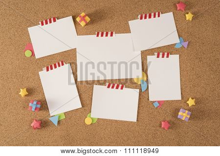 Paper Note Office Board Cork Notice Template Portfolio